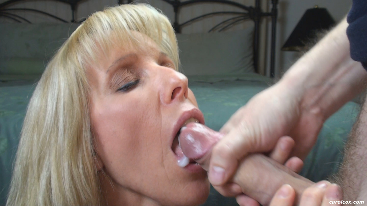 Mature mom swallows cum